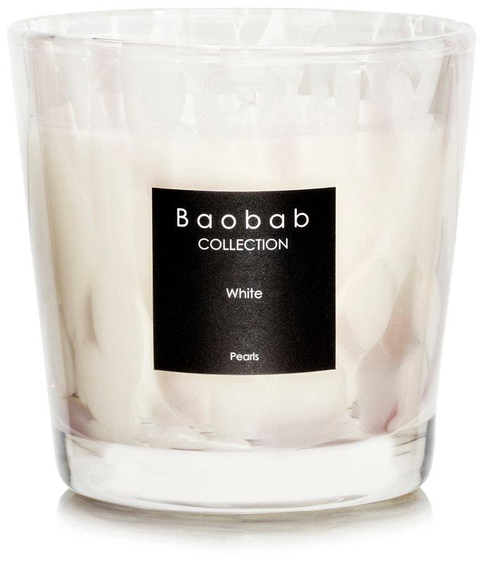Baobab White Pearls candela profumata 6,5 cm