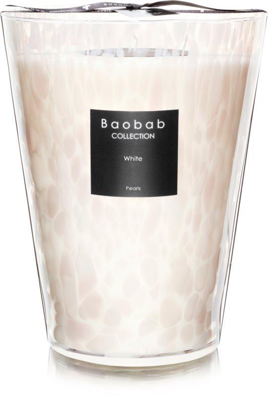 Baobab White Pearls Geurkaars 24 cm