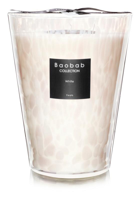 Baobab White Pearls świeczka zapachowa  24 cm