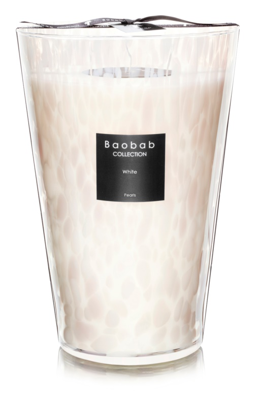 Baobab White Pearls candela profumata 35 cm