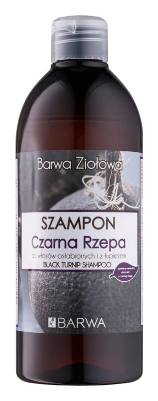 Barwa Herbal Black Turnip shampoo antiforfora per capelli deboli