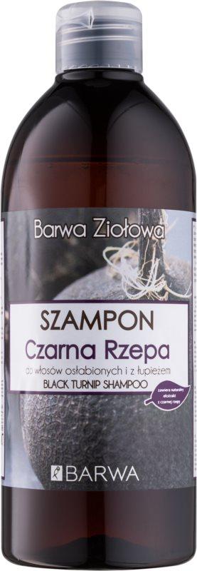Barwa Herbal Black Turnip шампунь проти лупи для слабкого волосся