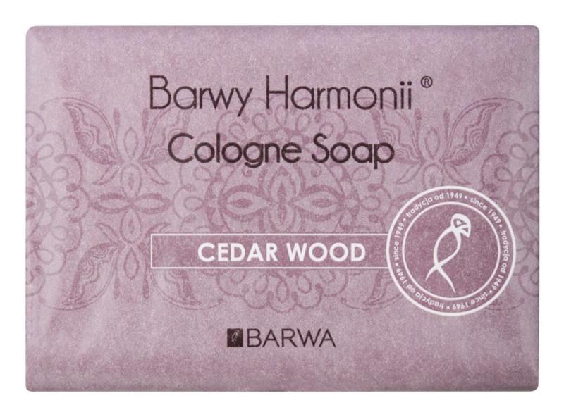 Barwa Harmony Cedar Wood mydło w kostce o dzłałaniu nawilżającym