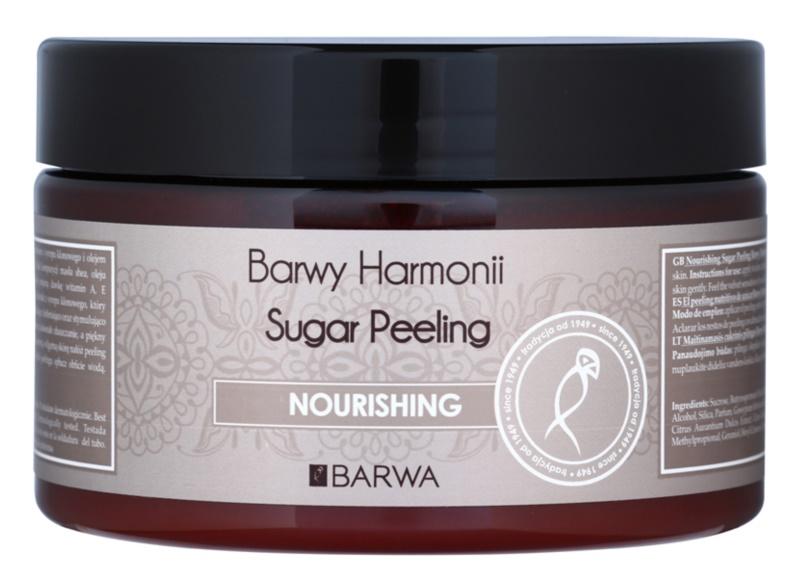 Barwa Harmony Nourishing cukor peeling a bőr táplálására és a gyengéd tisztítására