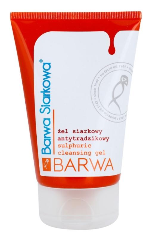Barwa Sulphur čisticí gel pro pleť s nedokonalostmi