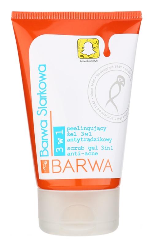 Barwa Sulphur peelinges gél pattanásos bőrre 3 az 1-ben