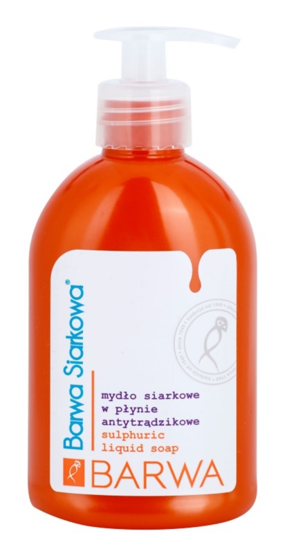 Barwa Sulphur Liquid Soap For Oily Acne - Prone Skin
