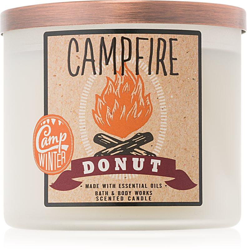Bath & Body Works Camp Winter Campfire Donut dišeča sveča  411 g