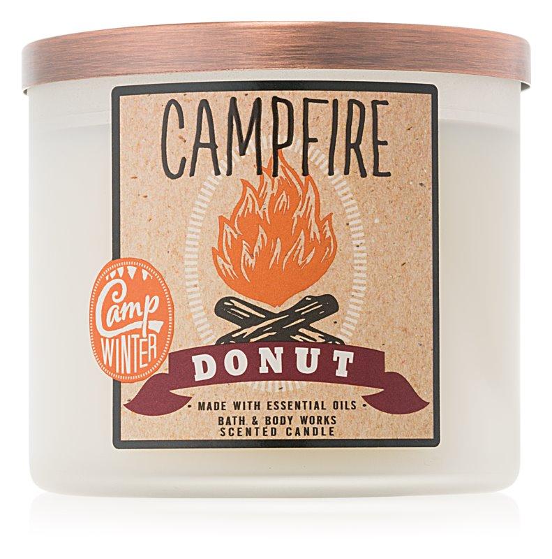 Bath & Body Works Camp Winter Campfire Donut vonná svíčka 411 g