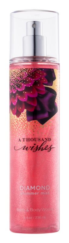 Bath & Body Works A Thousand Wishes spray corporel pour femme 236 ml pailleté