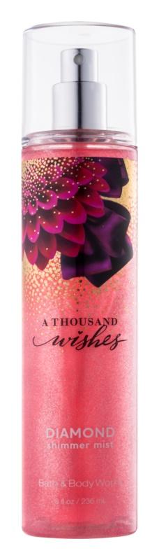 Bath & Body Works A Thousand Wishes testápoló spray nőknek 236 ml csillogó