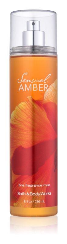 Bath & Body Works Sensual Amber spray corpo per donna 236 ml