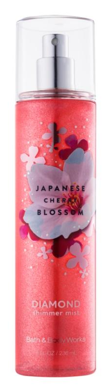 Bath & Body Works Japanese Cherry Blossom telový sprej pre ženy 236 ml trblietavý
