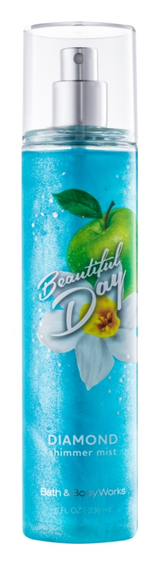 Bath & Body Works Beautiful Day spray corporel pour femme 236 ml pailleté