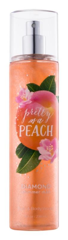 Bath & Body Works Pretty as a Peach tělový sprej pro ženy 236 ml třpytivý