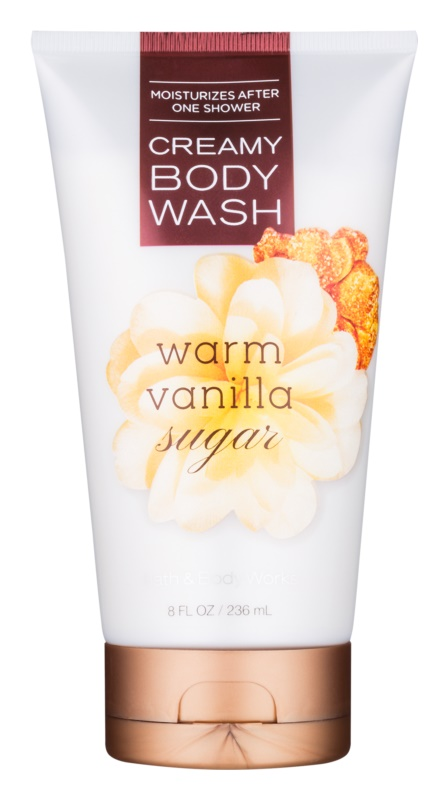 Bath & Body Works Warm Vanilla Sugar sprchový krém pro ženy 236 ml