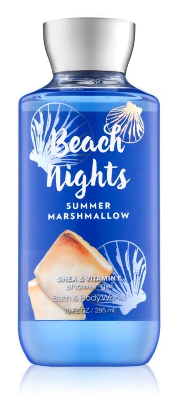 Bath & Body Works Beach Nights Summer Marshmallow żel pod prysznic dla kobiet 295 ml