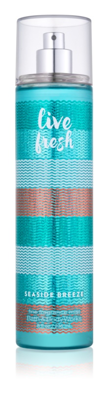 Bath & Body Works Live Fresh Seaside Breeze tělový sprej pro ženy 236 ml