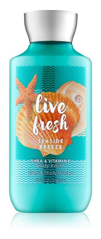 Bath & Body Works Live Fresh Seaside Breeze telové mlieko pre ženy 236 ml