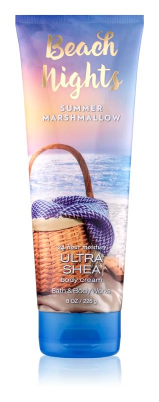 Bath & Body Works Beach Nights Summer Marshmallow tělový krém pro ženy 226 g