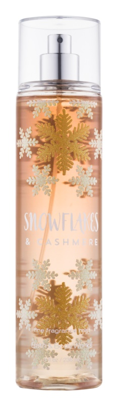 Bath & Body Works Snowflakes & Cashmere spray corporel pour femme 236 ml
