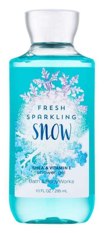 Bath & Body Works Fresh Sparkling Snow Duschgel für Damen 295 ml