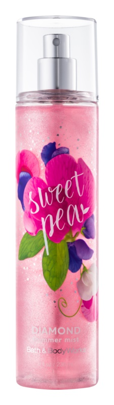 Bath & Body Works Sweet Pea Body Spray for Women 236 ml glittering
