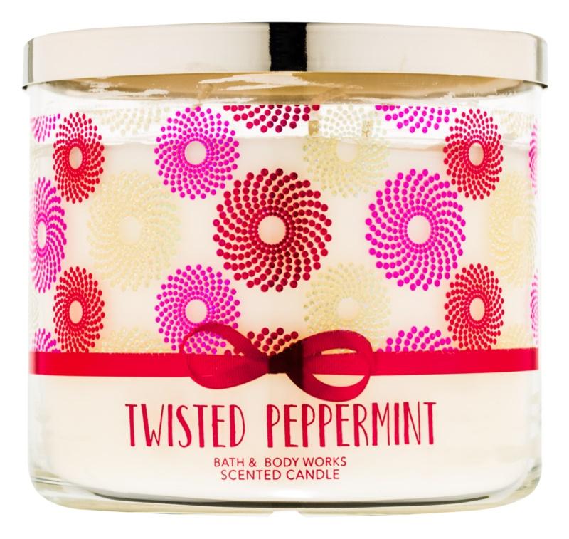 Bath & Body Works Twisted Peppermint bougie parfumée 411 g