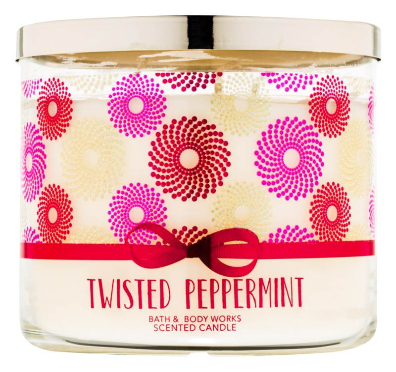 Bath & Body Works Twisted Peppermint illatos gyertya  411 g