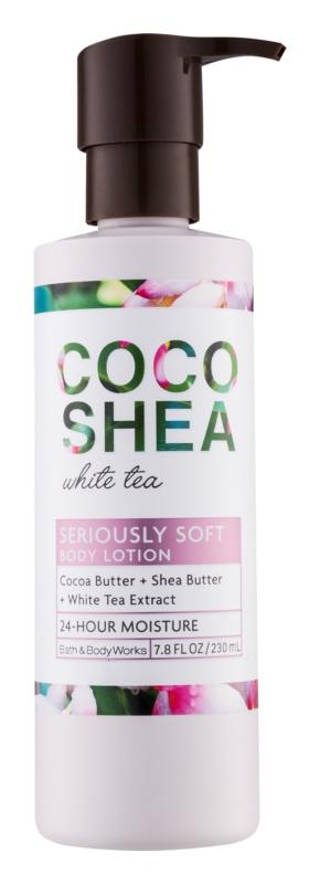 Bath & Body Works Cocoshea White Tea tělové mléko pro ženy 230 ml