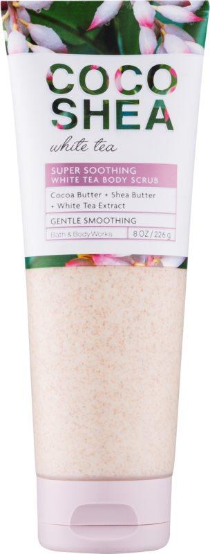 Bath & Body Works Cocoshea White Tea exfoliant de corp pentru femei 226 g