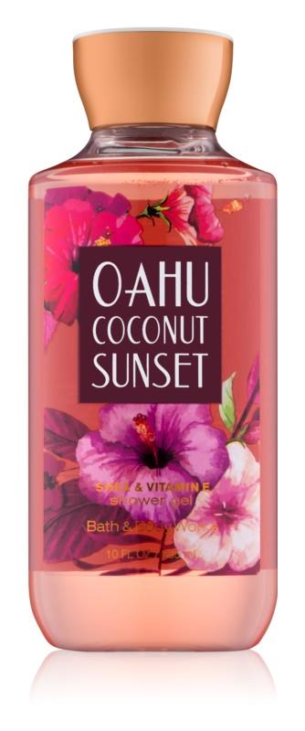 Bath & Body Works Oahu Coconut Sunset Douchegel voor Vrouwen  295 ml
