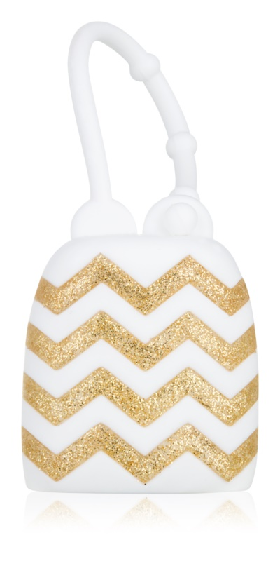 Bath & Body Works PocketBac White with Chevrons Silicone Case for Hand Sanitizer Gel