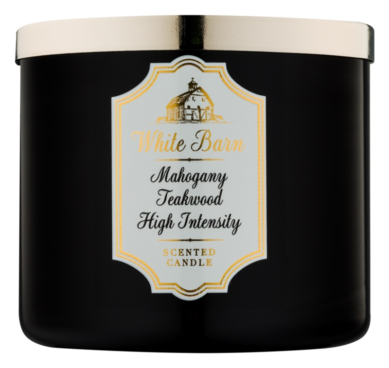 Bath & Body Works White Barn Mahogany Teakwood High Intensity świeczka zapachowa  411 g
