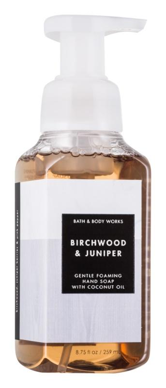 Bath & Body Works Birchwood Juniper hab szappan kézre