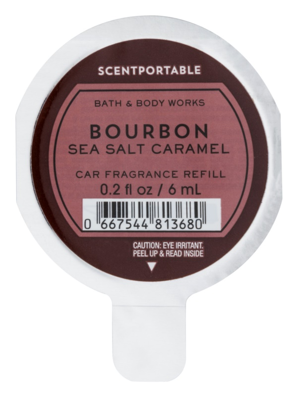 Bath & Body Works Bourbon Sea Salt Caramel Auto luchtverfrisser  6 ml Vervangende Vulling