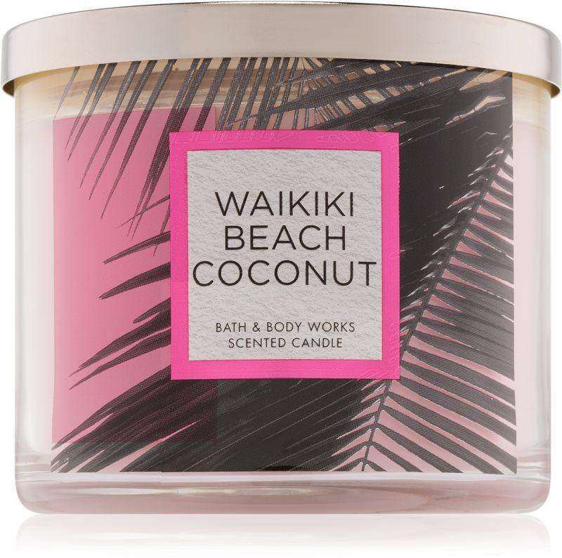 Bath & Body Works Waikiki Beach Coconut lumânare parfumată  411 g