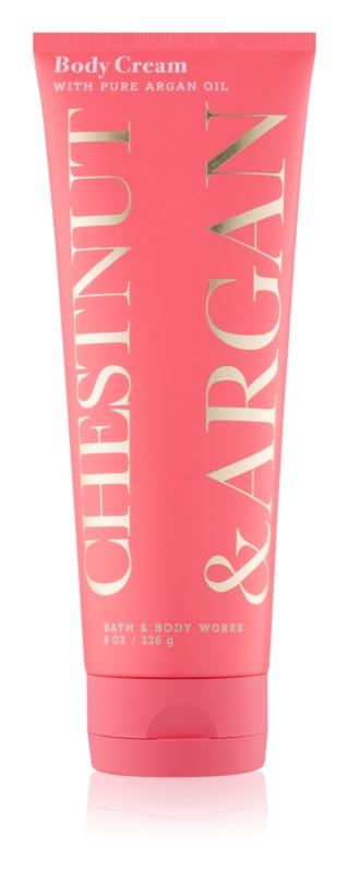 Bath & Body Works Chestnut & Argan tělový krém pro ženy 226 g