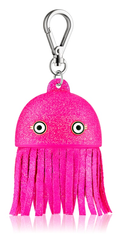 Bath & Body Works PocketBac Pink Jellyfish Hand Gel Packaging with Light