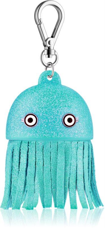 Bath & Body Works PocketBac Blue Jellyfish svietiaci silikónový obal na antibakteriálny gél