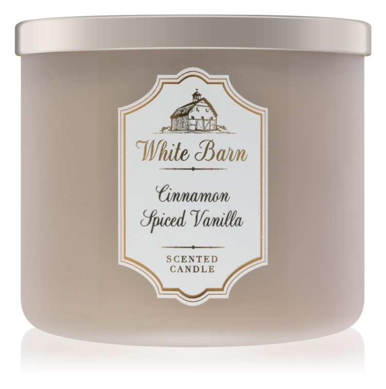 Bath & Body Works White Barn Cinnamon Spiced Vanilla Duftkerze  411 g