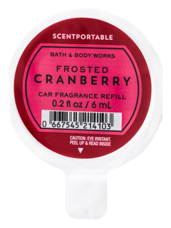 Bath & Body Works Frosted Cranberry vůně do auta 6 ml