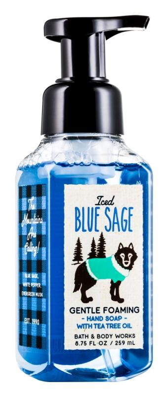 Bath & Body Works Iced Blue Sage hab szappan kézre