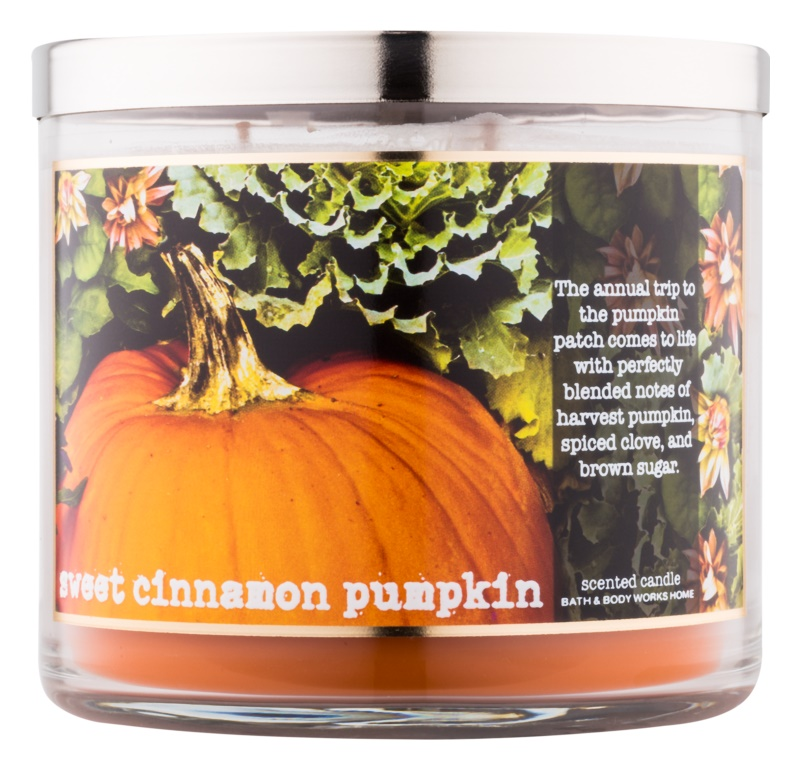 Bath & Body Works Sweet Cinnamon Pumpkin illatos gyertya  411 g