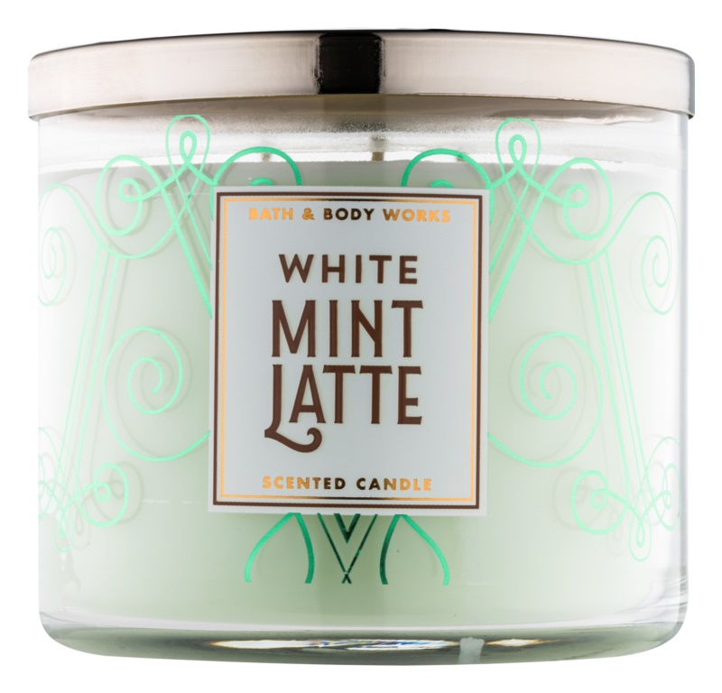 Bath & Body Works White Mint Latte illatos gyertya  411 g