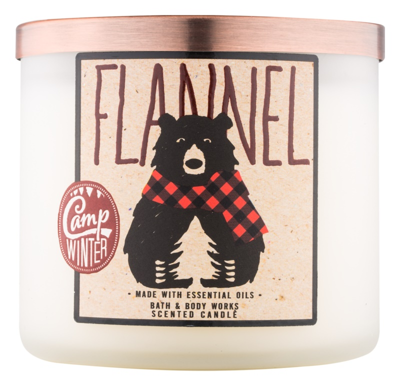 Bath & Body Works Camp Winter Flannel vonná svíčka 411 g