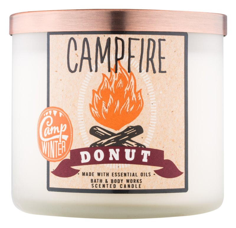 Bath & Body Works Camp Winter Campfire Donut lumanari parfumate  411 g