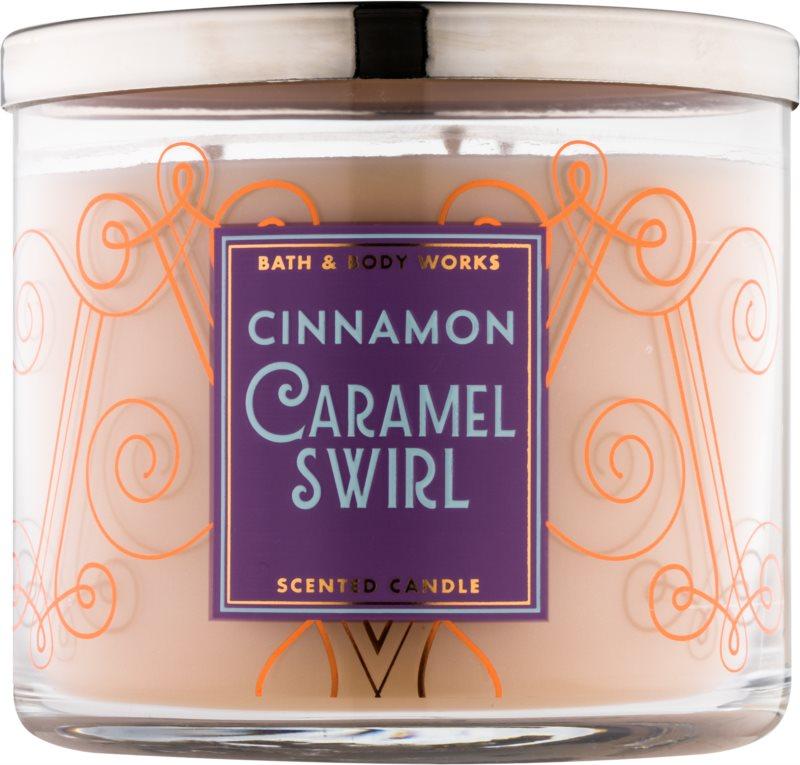 Bath & Body Works Cinnamon Caramel Swirl vonná svíčka 411 g