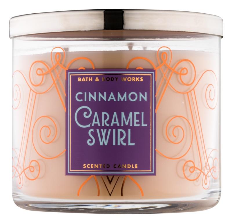 Bath & Body Works Cinnamon Caramel Swirl vonná sviečka 411 g