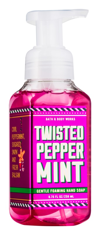 Bath & Body Works Twisted Peppermint hab szappan kézre